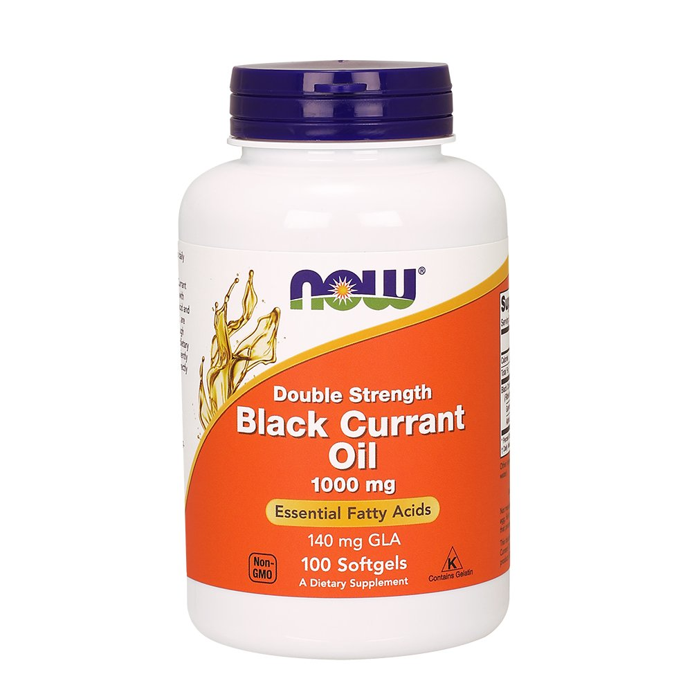 Now Foods Double Strength Black Currant Oil Dietary Supplement, 1000 mg, 100 Softgels by NOW Foods