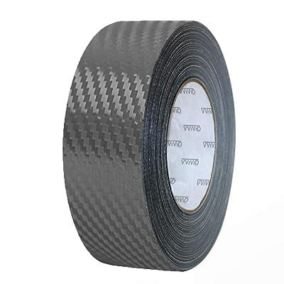 VViViD Dry Carbon Fibre Detailing Vinyl Wrap Tape 2 Inch x 20ft Roll DIY (Gunmetal Grey): Automotive