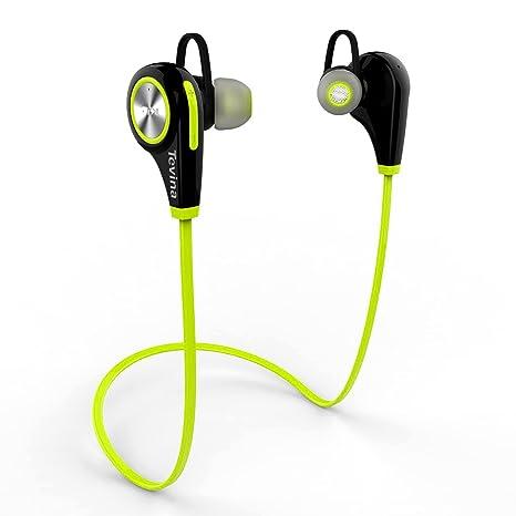 Mpow Swift Auricolari Wireless Bluetooth 4.0 Headset Stereo Cuffie Sportive  a Prova di Sudore con Microfono dce63579be16