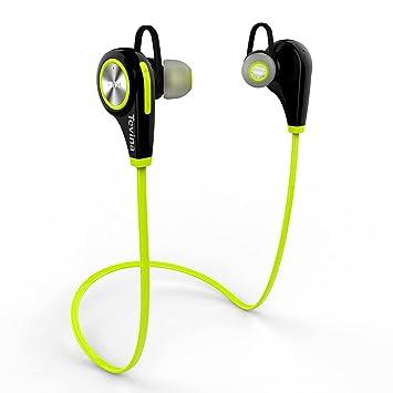 Auriculares Inalámbrico Bluetooth 4.1, Tevina Headphones Deportivo con Micrófono Resistente: Amazon.es: Electrónica