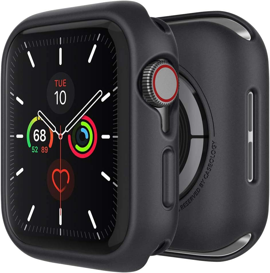 Caseology Nero Desiged for Apple Watch Case for 44mm Series 6 (2020) SE (2020) 5 (2019) 4 (2018) - Black