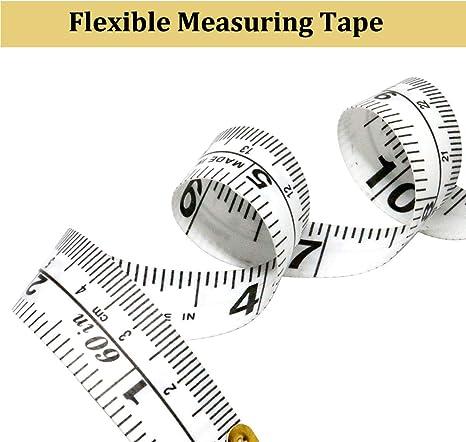 R/ègle flexible double face de 1,5 m marquage rouge HI-QUAL M/ètre ruban souple de 150 cm pour la couture et le tissu 1 lot