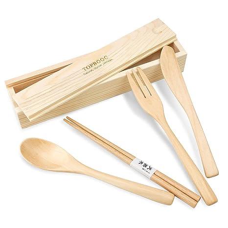 Amazon.com: Juego de cuchillo, tenedor, cuchara, palillos ...