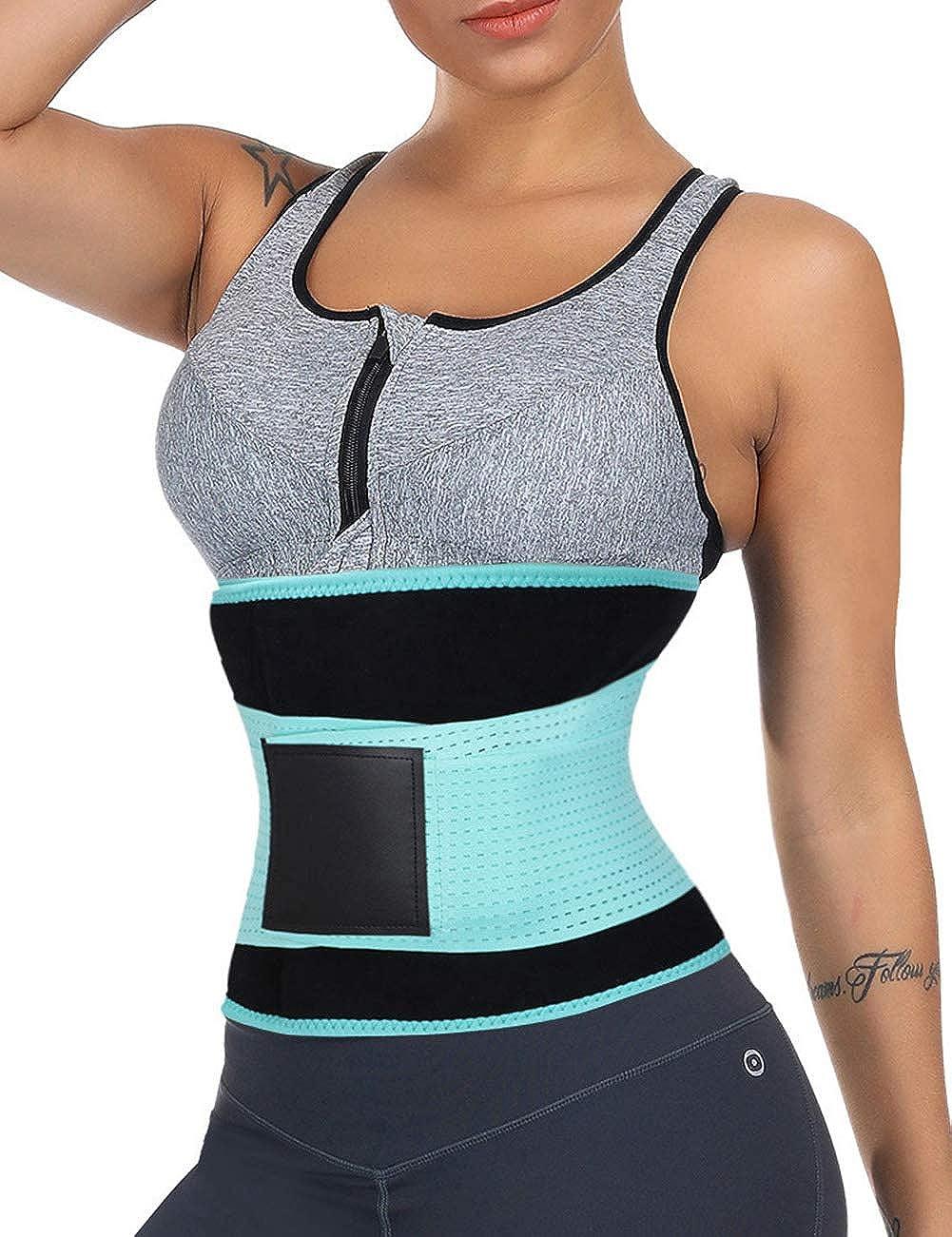 bluee1 WonderBeauty Women's Waist Trainer Belt Sport Girdle Shaperwear Waist Cincher