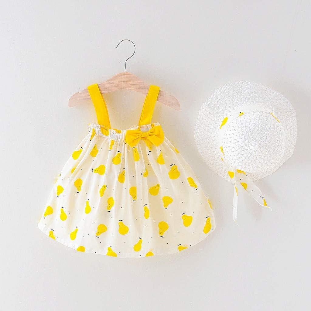 Amazon.com: Baby Girls Dress Summer Clothes Set Ruffles Pear Print