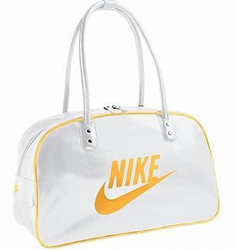 bf9f5b8e76694 Nike Damen Schultertasche Heritage SI Club weiss   orange  Amazon.de ...