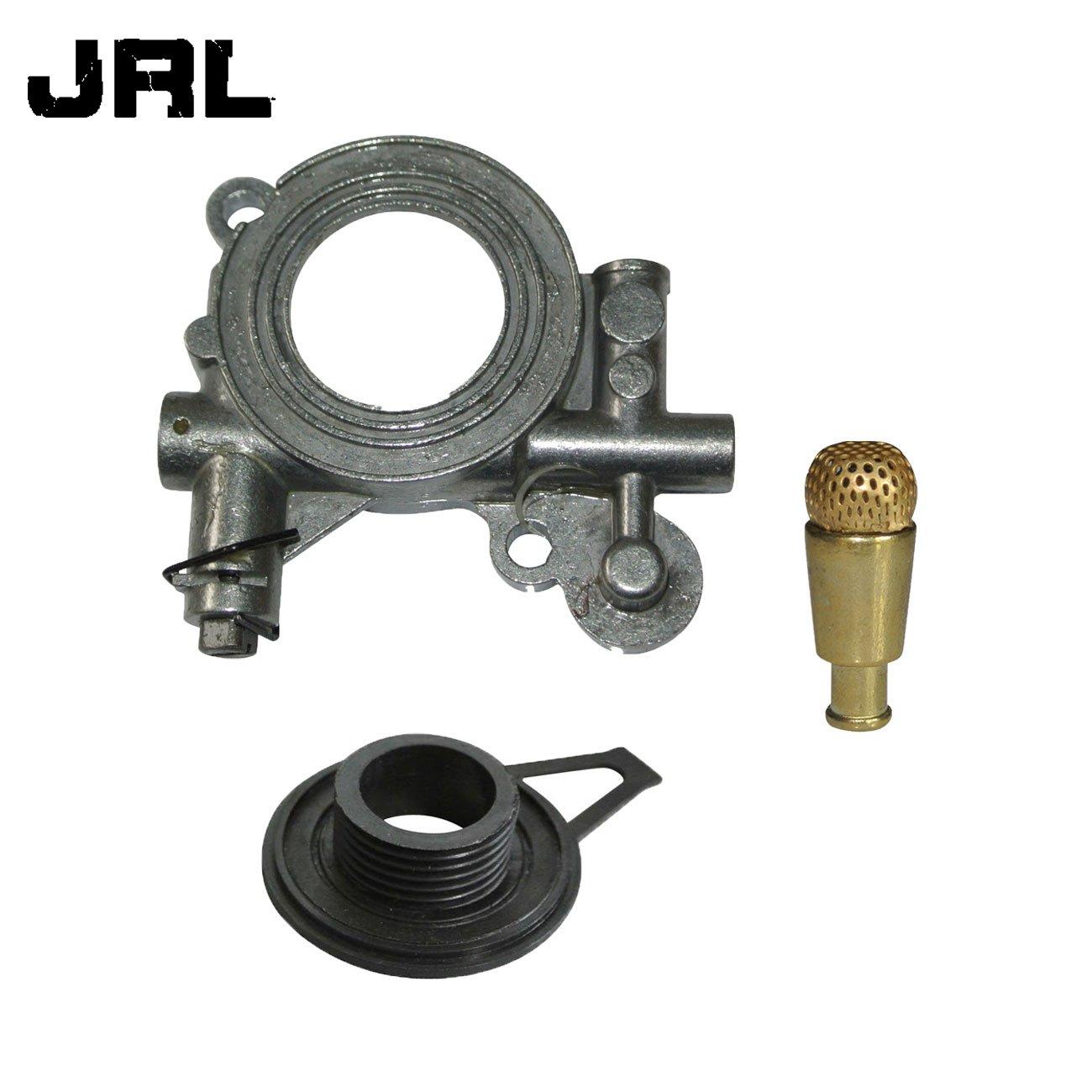 JRL Pompe /à huile et WORM Gear et filtre /à huile pour Husqvarna 362/365/371/372/XP 385/390/mod/èles