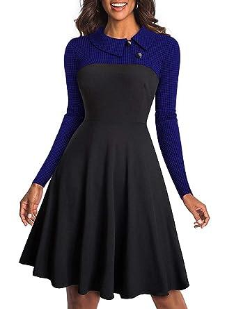 in vendita a97fb 951e1 Aleumdr Vestiti Donna Manica Lunga Abito Donna Invernale S-XXL
