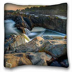 Custom Cotton & Polyester Soft Nature Custom Zippered Pillow Case 16x16 inches(one sides) from Surprise you suitable for Queen-bed