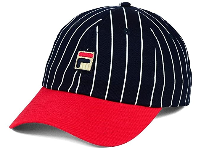 15fd6575757 Image Unavailable. Image not available for. Colour  Fila Heritage Two Tone  Striped Unisex Slouch Adjustable Baseball Hat ...