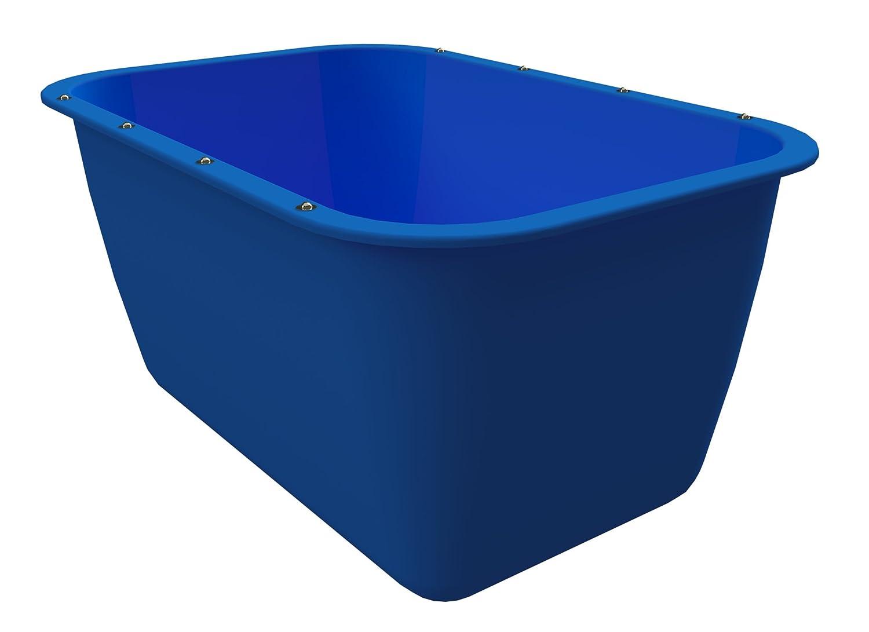 200 Liter Mörtelkübel Blau Mörtelwanne Blumenkübel Wasserbehälter