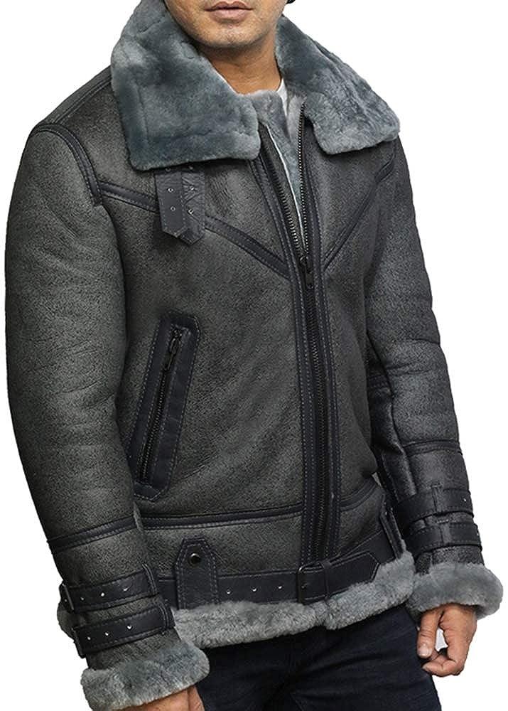 Amazon.com: Brandslock B3 WWII Bomber - Chaqueta de piel de ...