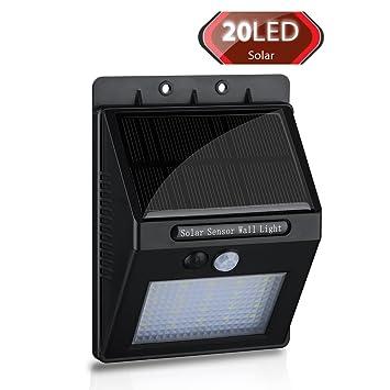 VicTop® 20 LED Lámpara Solar con Sensor de Movimiento