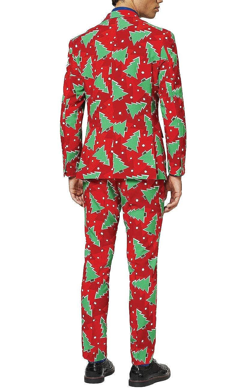 OppoSuits Traje navideño Arbol de Navidad entallado-46 ...