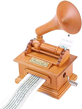 Caja de musica Violín retro proyector de película fonógrafo máquina de coser de la caja de