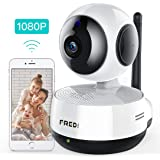 Wireless IP Camera, FREDI 1080P HD WiFi IP Camera Home Surveillance Security Camera, Cloud Service, IR NightVision, Motion Detection, Two-Way Audio, Pan/Tilt/zoom for Baby Monitor Nanny Pet Dog Camera (IP890)