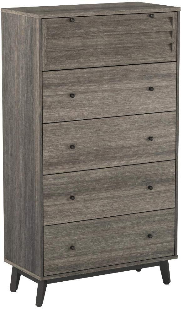 Ameriwood Home 5994196COM Vaughn 5 Drawer Dresser, Gray Oak