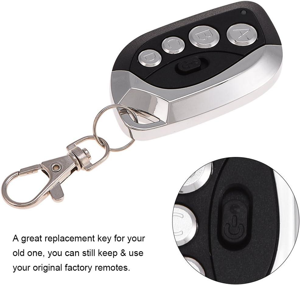 Mando a distancia universal para puerta de garaje de coche VBESTLIFE DC 6 V 433,92 MHz negro puerta el/éctrica