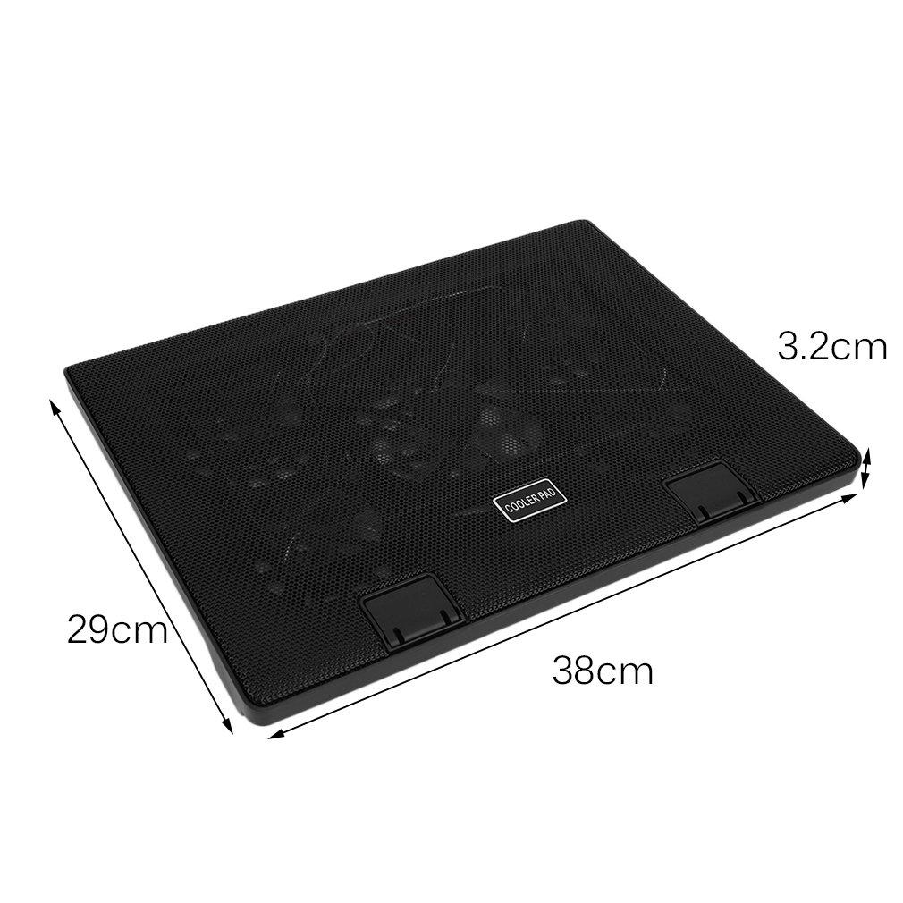 /17/pulgadas para 10// iCoco/ /Ventilador de port/átil Cooler Soporte 5/x LED ventilador