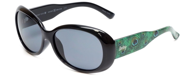 Lucky Brand Del-Mar Designer Sunglasses in Black