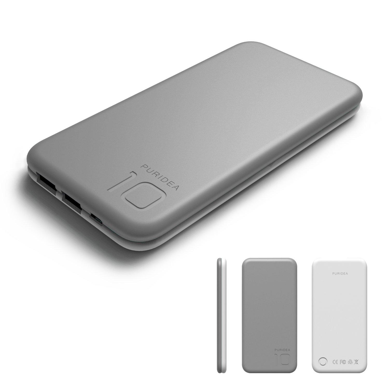 mAh Cargador portátil Puridea Salida A Doble USB Batería Externa Batería as