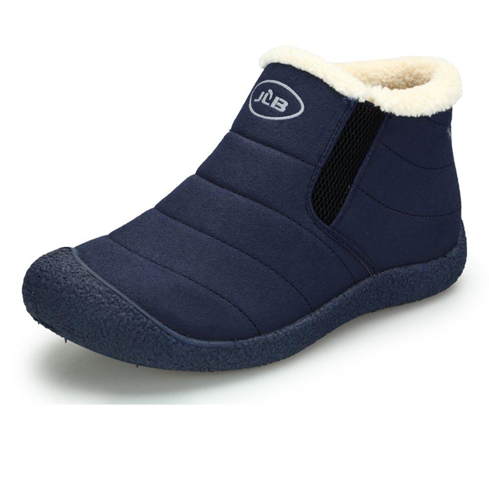 Chaussures Bleu Hommes Bottes de Bottine Neige avec Chaud Doublure Cheville Hiver Boots Imperméable avec Epais Fourrure Bottine pour Hommes Femme Bleu 9e979e2 - conorscully.space
