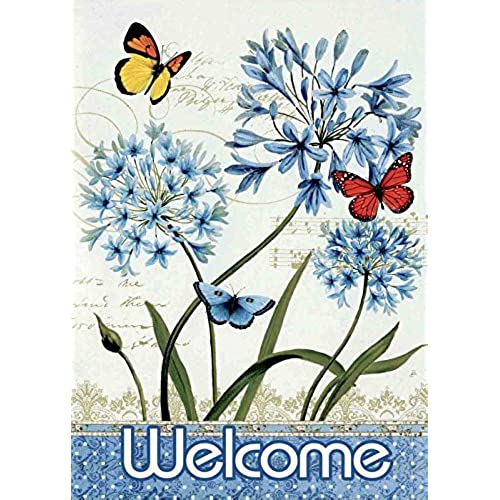 Etonnant JoyPlus Welcome Butterfly U0026 Flower Garden Flag   Vertical Double Sided  Spring Decorative Rustic/Farm House Small Decor Flags Set For Indoor U0026  Outdoor ...