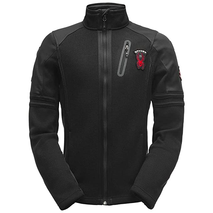 Amazon.com: Spyder Mens Wengen Full Zip Stryke Jacket, Black/Black/Black, XX-Large: Sports & Outdoors