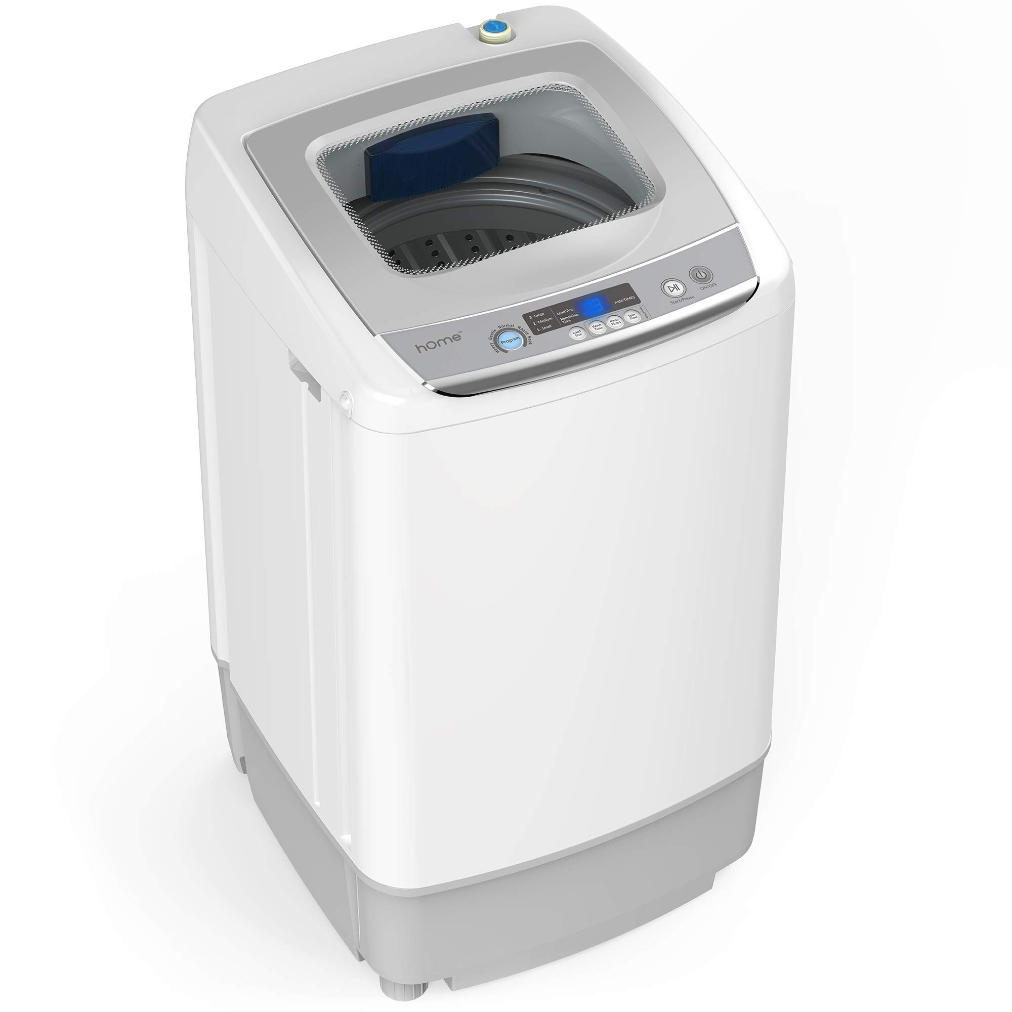 hOmeLabs 0.9 Cu. Ft. Portable Washing Machine - 6 Pound Capacity, Top Loading, 5 Wash Cycles, 3 Water Level Selections and LED Display - Perfect for Apartments, RVs and Small Space Living by hOmeLabs