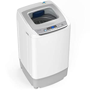 hOmeLabs 0.9 Cu. Ft. Portable Washing Machine - 9 Pound Capacity, Top Loading, 5 Wash Cycles, 3 Water Level Selections and LED Display - Perfect for Apartments, RVs and Small Space Living