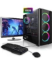 """Megaport Komplett PC Gaming PC AMD Ryzen 5 2600 • 24"""" Monitor • Tastatur • Maus • Nvidia GeForce GTX1060 • 16GB DDR4 RAM • 240GB SSD • Windows 10 • WLAN Gamer pc Computer komplettpaket"""
