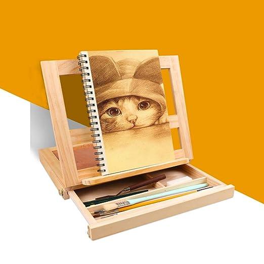 Tablero de dibujo de escritorio de madera A3 ajustable - 5 ...
