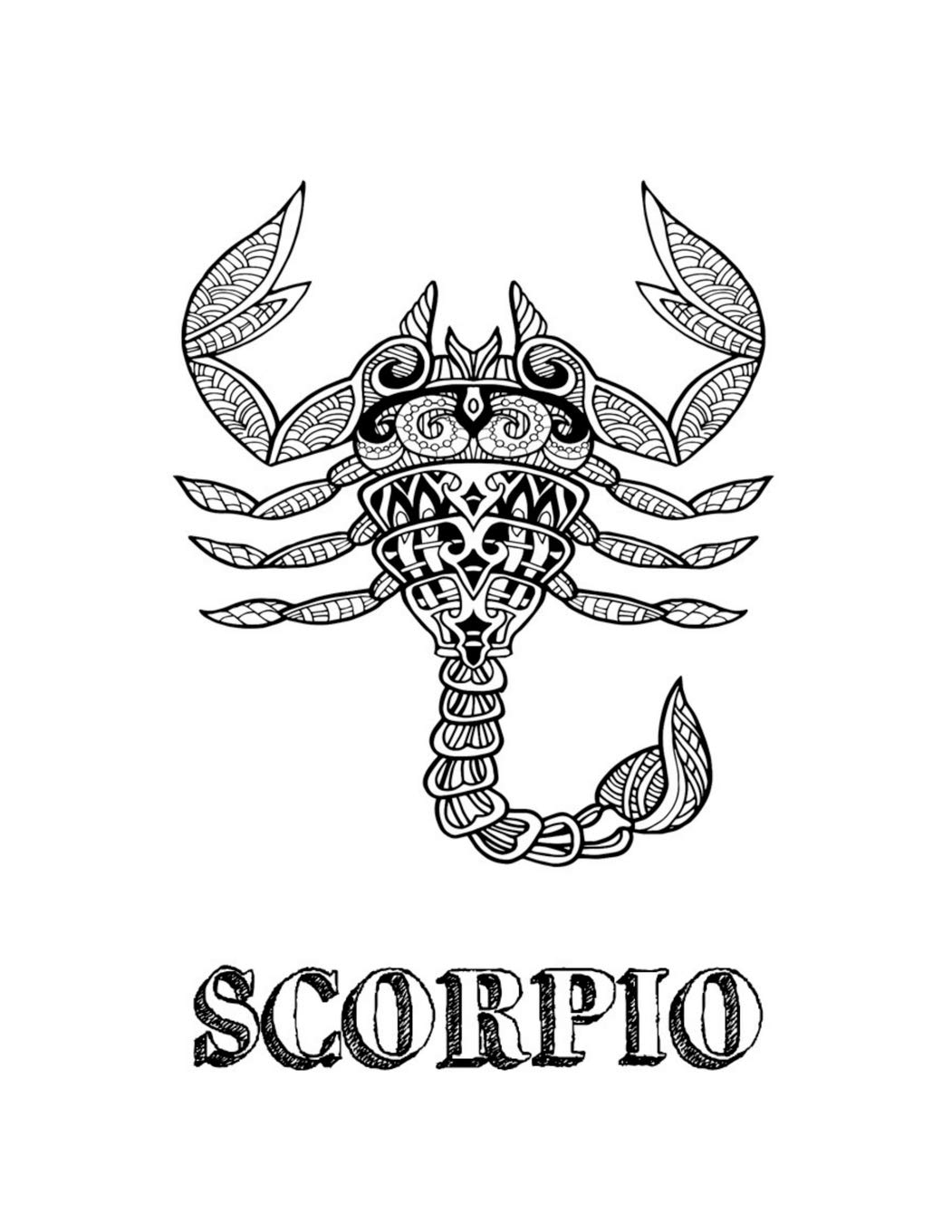 Zodiac Coloring Pages: Printable Zodiac Signs Coloring Pages for ... | 1360x1051