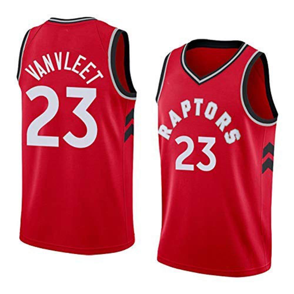 ANHPI-Jersey Fred VanVleet # 23 Maglia da Basket NBA Toronto Raptors,Maglietta Sportiva Smanicata con Ricamo