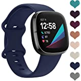 LORDSON 6-Pack Bands Compatible with Fitbit Versa 2 / Versa/Versa Lite, Soft Silicone Sport Watch Strap Replacement Wristband
