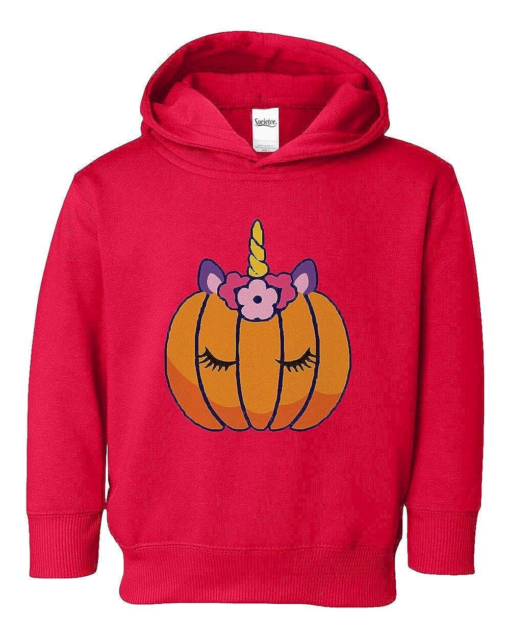Societee Unicorn Pumpkin Cute Girls Toddler Hooded Sweatshirt