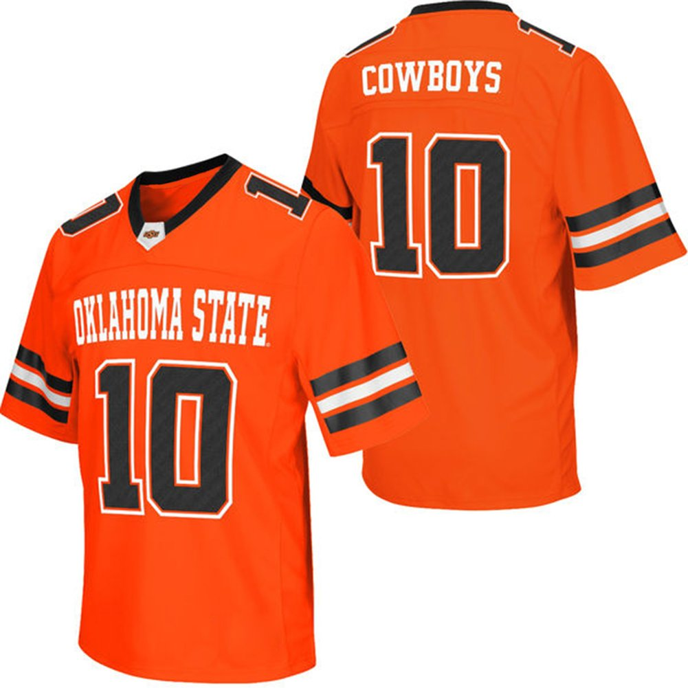 e5fabebc188 on sale NCAA Mens Colosseum  10 Orange Oklahoma State Cowboys Big   Tall  College Football