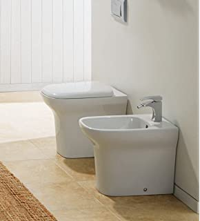 097c711c8a90 Yellowshop - Sanitari Bagno A Terra Pavimento Filo Muro Mod. Flow Vaso Wc +  Bidet