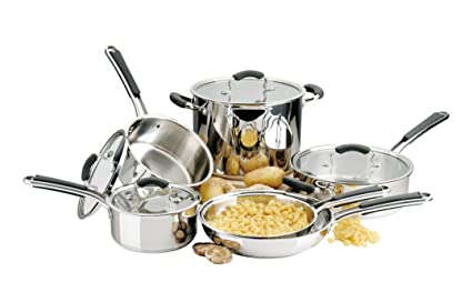 Amazon Com Titan Cookware Stainless Steel Pots And Pans Set 10