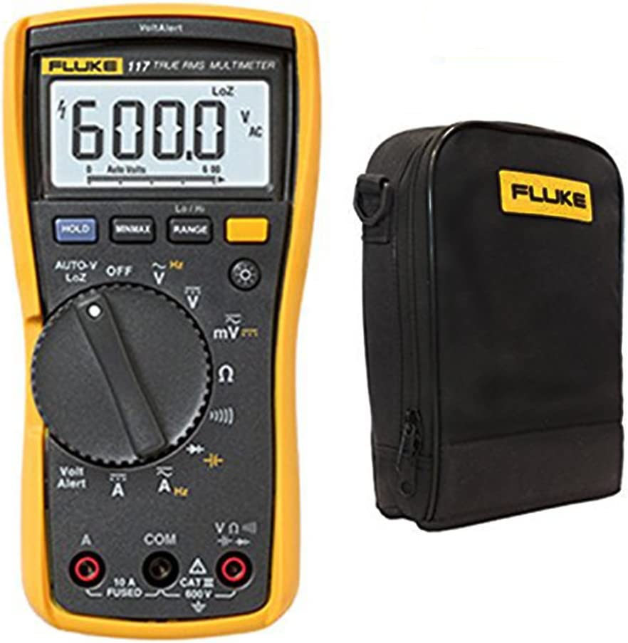 Fluke 117 True Rms Digital Multimeter W C115 Carry Bag And Test Leads Baumarkt