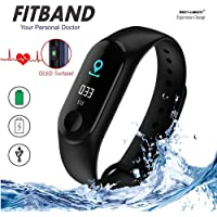MOM'S GADGETS M3 Intelligence Bluetooth Health Wrist Smart Band Watch Monitor/Smart Bracelet/Health Bracelet/Smart Watch for Mens/Activity Tracke/Bracelet Watch for Men/Smart Fitness Band