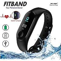 MOM'S GADGETS M3 Intelligence Bluetooth Health Wrist Smart Band Watch Monitor/Smart Bracelet/Health Bracelet/Smart Watch for Mens/Activity Tracke/Bracelet Watch for Men/Smart Fitness Band