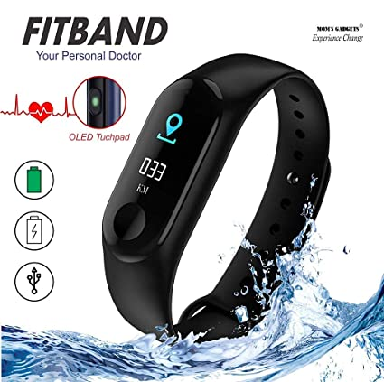 MOM'S GADGETS M3 Intelligence Bluetooth Health Wrist Smart Band Watch  Monitor/Smart Bracelet/Health Bracelet/Smart Watch for Mens/Activity