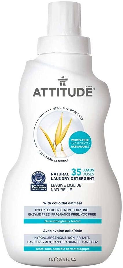 ATTITUDE - Detergente de Lavandería Natural - Libre de fragancia ...