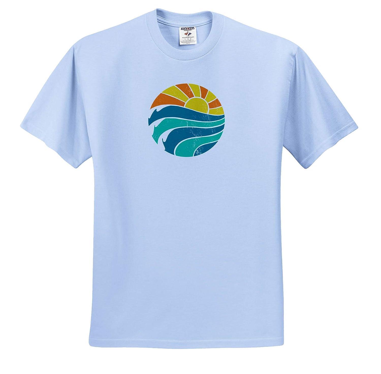 Retro Sunshine Adult T-Shirt XL 3dRose Cassie Peters Digital Art ts/_314204
