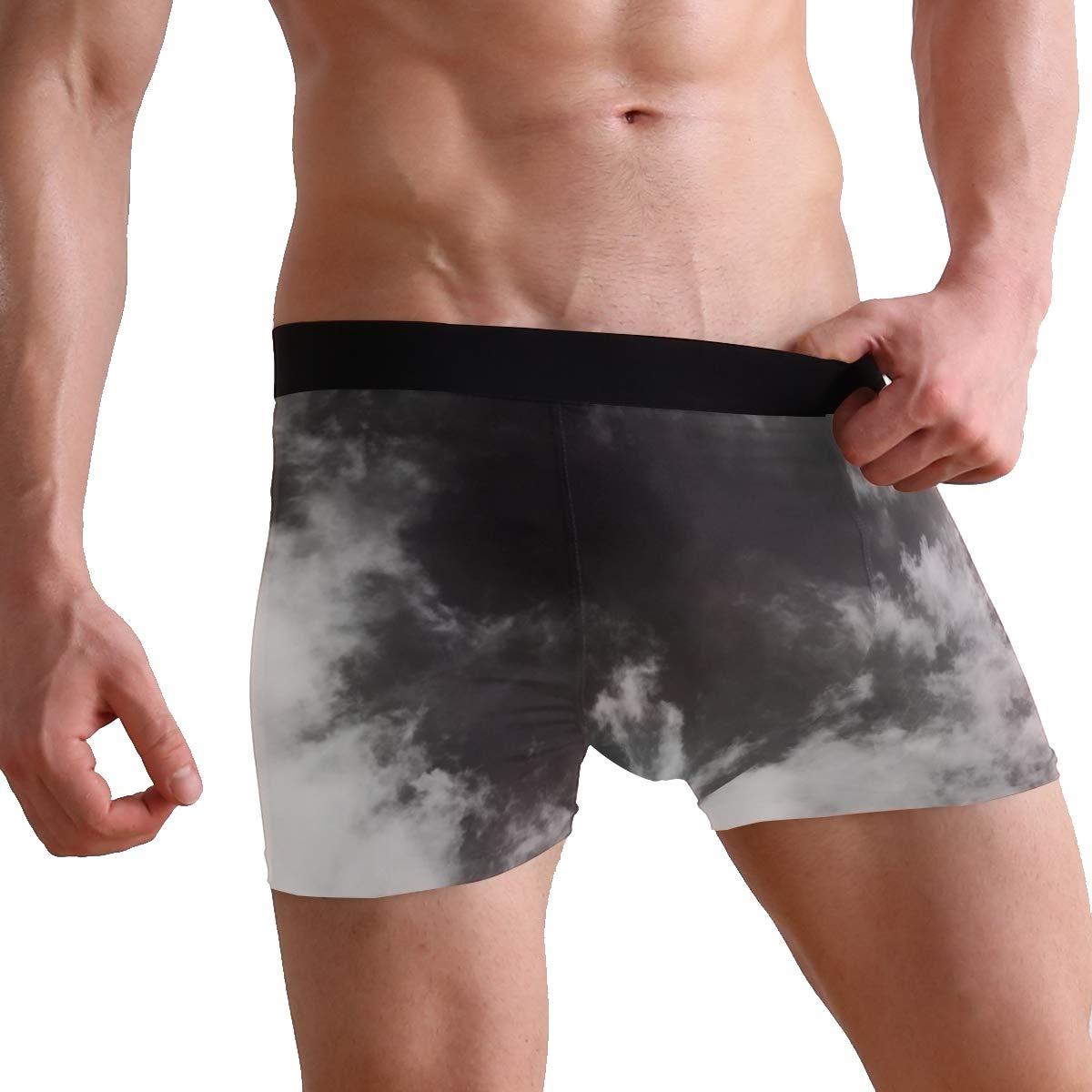 Aluys boutique Mens Dream Catcher 2 Pack Comfortable Underwear Boxer Briefs Breathable Bulge Pouch Underpants S