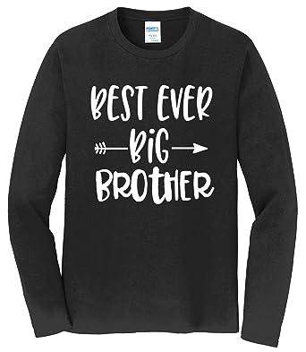 Tenacitee Girls Best Ever Big Sister Arrow Hooded Sweatshirt