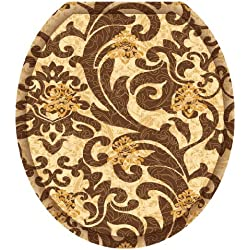 Toilet Tattoos TT-1114-R Tuscany Filigree Decorative Applique for Toilet Lid, Round