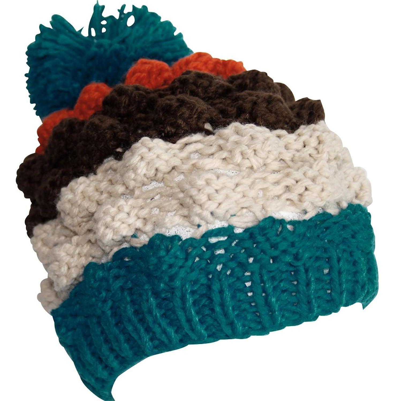 Attleya, Damen, Herren, Mütze, Unisex, Wintermütze, Babyblau, Rot, Schwarz, Weiß, Grau, 100% Acryl, Ski-Mütze mit Bommel