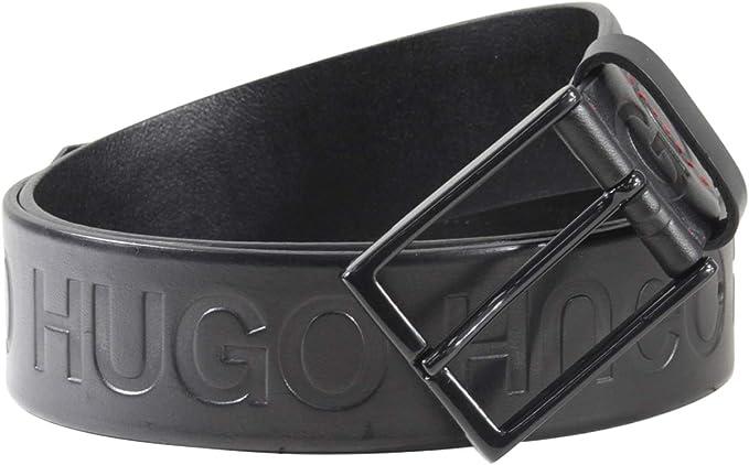 Hugo Boss Mens Baldwin Plaque Leather Belt